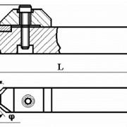 Резцы сборные проходные с механическим креплением цилиндрической вставки с режущим элементом из АСПК («Карбонадо») и Композита-01 (Эльбора-Р) ИС-201 фото