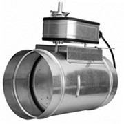 Заслонка воздушная с площадкой под электрический привод КВК 250 фото