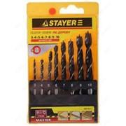 Набор Stayer Master Свёрла по дереву, в боксе, 3, 4, 5, 6, 7, 8, 9, 10мм, 8шт Код: 2942-H8_z01 фото