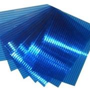 Поликарбонат сотовый 12000х2100х8 синий фото