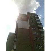 Утепление стен снаружи в многоэтажных жилых домах. фото