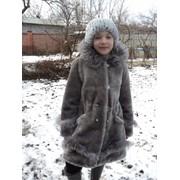 Детская шуба из мутона снежинка фото