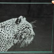 Лазерная гравировка по стеклу , нанесение рисунка на стекло лазерной гравировкой фото
