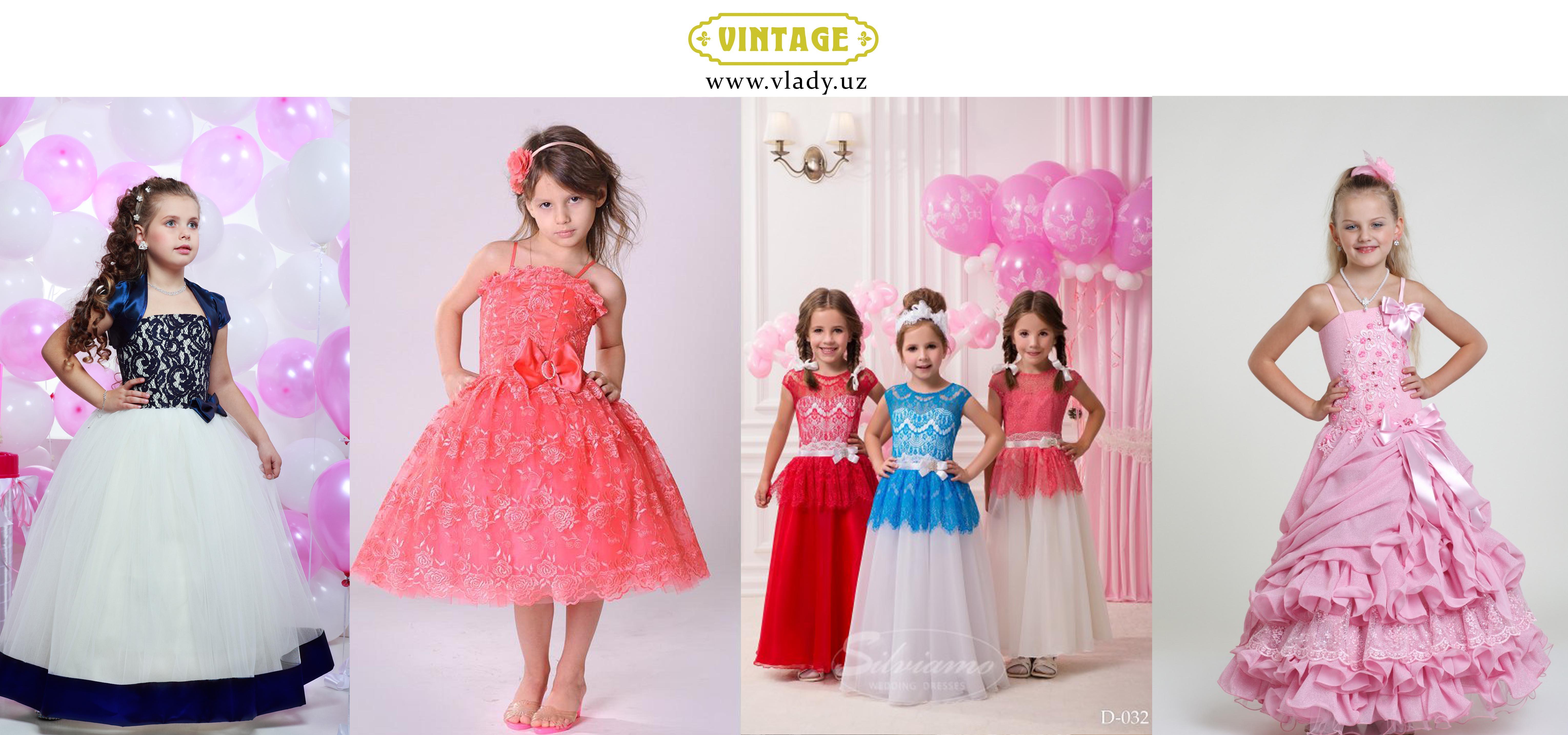Узбекистан платья детские