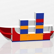 Стенка для игрушек Корабль МД-08.07-Ф