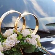 Украшение свадебного авто фото