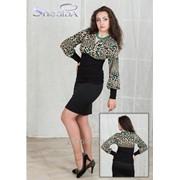 Блуза 1811 Леопард цвет фото