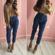 Женские джинсы МОМ укороченные. КО-3-0818 фото