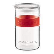 Красная банка для хранения кофе Presso, 1л фото