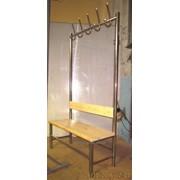 Вешалка-скамейка из нержавеющей стали для душевой фото