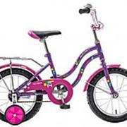 """Велосипед NOVATRACK 14"""",TETRIS,фиолетовый,тормоз нож.,крылья цвет, 141TETRIS.VL8 #126735 фото"""