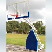 Стойка баскетбольная мобильная складная с гидравлическим механизмом фото