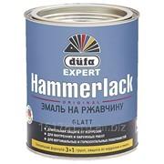 Эмаль на ржавчину Dufa Expert HAMMERLACK гладкая, черная 750мл фото