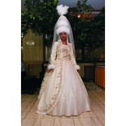 Национальных свадебных платьев в астане фото