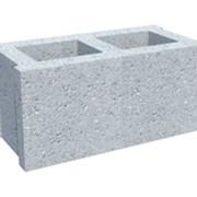 Блок бетонный двух пустотный фото
