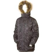 Куртка пуховая для мальчика, мех (отстежка) фото