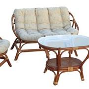 Комплект плетеной мебели для отдыха Mega фото