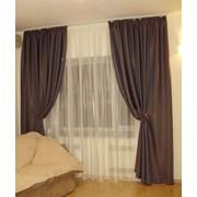 Оформление окон в помещениях, шторы для гостиной, выезд дизайнера на объект для замеров, разработка эскизов моделей штор, подбор ткани. фото