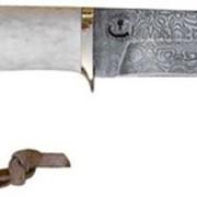Нож из дамасской стали Выпь рукоять из рога фото