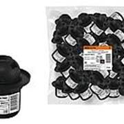 Патрон Е27 с кольцом, термостойкий пластик, черный, TDM фото