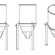 Силос Ду=2500мм, объем 50 м.куб., с аспирационным фильтром, угл.ст. фото