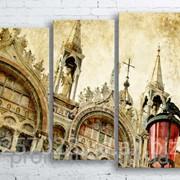 Модульна картина на полотні Венеція. Сан-Марко код КМ100130-077 фото