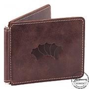 Кожаный зажим для денег Мюнхен (коричневый) фото