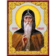Набор для вышивания икон Святой Преподобный Геннадий Костромской КТК - 3044 фото