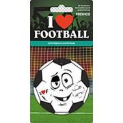 "Ароматизатор подвесной картонный ""Freshco I love Football"" Антитабак AZARD фото"