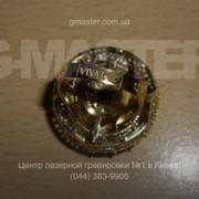 Лазерная гравировка ювелирного бренда на перстне фото
