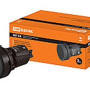 Кнопка SB7-EA21 d22мм 1з черная TDM фото