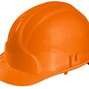 Каска строительная оранж фото
