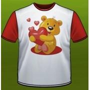 """Футболка детская """"Медвежонок с сердечком"""" фото"""