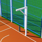 Стойка баскетбольная Г-образная, вынос 1,2 м порошковое окрашивание БСП-120 фото
