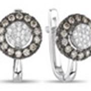 Серьги с бриллиантами 1107 фото