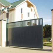 Откатные ворота фото