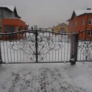Распашные ворота 10 фото