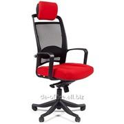 Chairman CH283 ткань красная 26-22, сетка черная, пластик, 378281