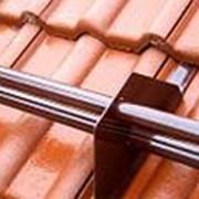 Снегозадержатель трубчатый BORGE для черепичной кровли 3м стандартные цвета фото