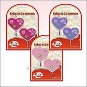 Набор из 2-х крючков Сердечки со стразами 3 цвета, код: 27.184 фото