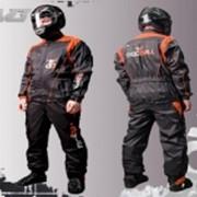Дождевик раздельный Черно-оранжевый фото
