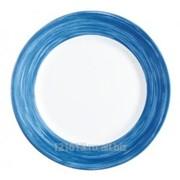 Тарелка d=195 мм синий край Браш /6/ фото