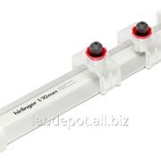 Линейка измерительная Hirlinger 5/100 мм, длина 250 мм, 1 слайдер с увеличительной линзой 12х фото