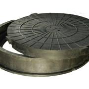 Полимерно-песчаный люк Тип «Т» тяжёлые фото