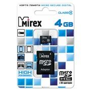 Карта памяти microSDHC с адаптером MIREX 8GB