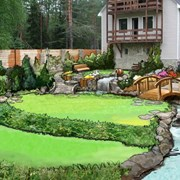 Ландшафтный дизайн. благоустройство и озеленение т фото