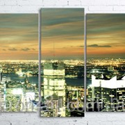 Модульна картина на полотні Нічне місто код КМ100200(176)-021 фото