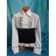 Оригинальная блуза-корсет белая с черным фото