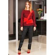 Блуза 1485-1 Бордовый цвет фото