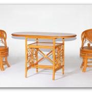 Комплект для отдыха из ротанга с вращающимися креслами фото